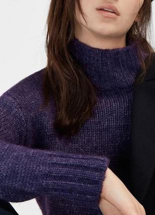 Теплый свитер под горло massimo dutti
