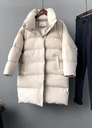 Стильная зимняя женская куртка парка пуховик
