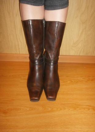 Шок цена/ зимние сапоги из натуральной кожи за 200 грн