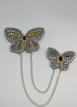 Брошь двойная бабочки