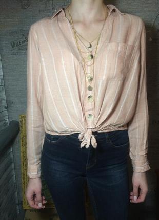Льняная рубашка primark