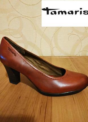 Туфли tamaris, кожа, оригинал р. 39