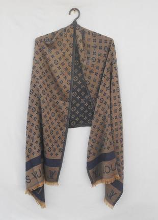 Шикарный  широкий палантин палантин шарф