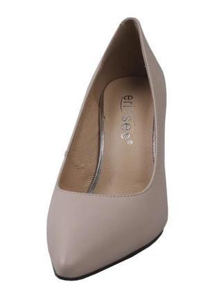 Туфли на устойчивом каблуке erisses натуральная кожа р. 33-35