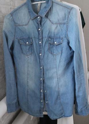 Рубашка джинс stradivarius
