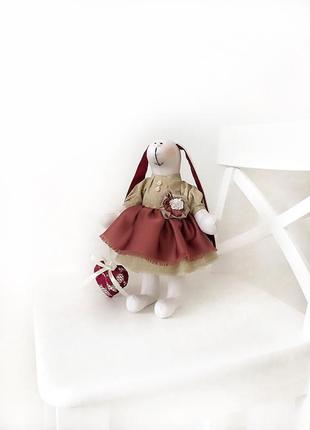Декоративная игрушка кукла зайка тильда