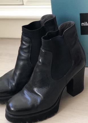 Итальянские кожаные ботинки фирмы now