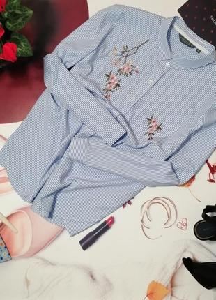 Модная рубашка dorothy perkins, хлопок, размер 18/46
