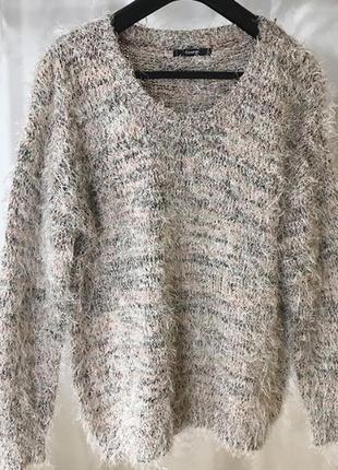 Пушистый свитер травка george