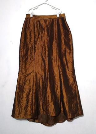 Золотая длинная юбка