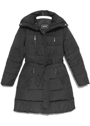 Женский английский темно-серый пуховик, пуховое пальто maine new england