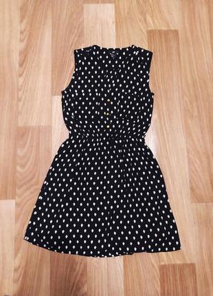 Красивое шифоновое платье в горошек