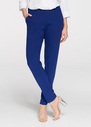 Чернильные брюки из умного стрейча размер 20 укороченные