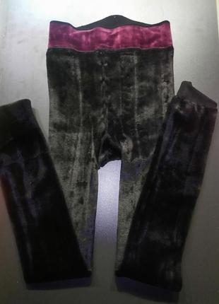 Термолеггинсы на меху леггинсы брюки лосины термо италия