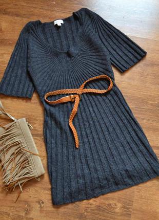 Изысканная туника- платье ,теплая ,вязка от monsoon на размер xs/s