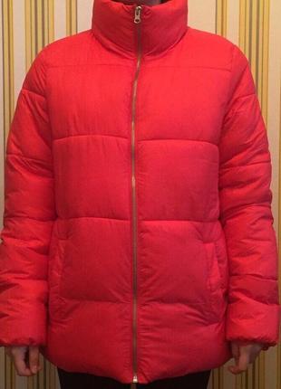 Фирменная тёплая красная куртка old navy!♥️