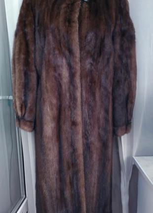 Длинная норковая шуба saga mink furs