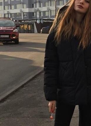 Курточка чёрная bershka