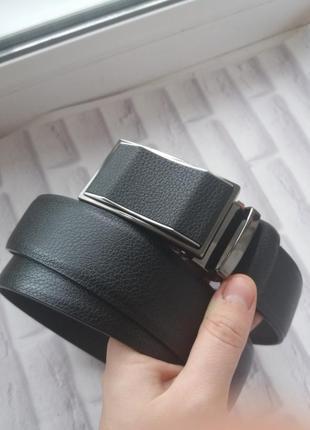 Мужской кожаный ремень автомат чоловічий шкіряний ремінь пояс из натуральной кожи