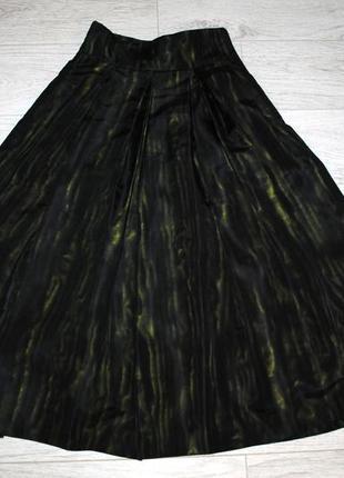 Дизайнерская нарядная широкая длинная юбка ниже колена