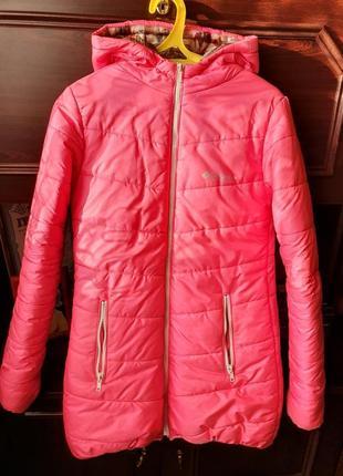 Демисезоная куртка розовая пуховик зимний осенний пудровый