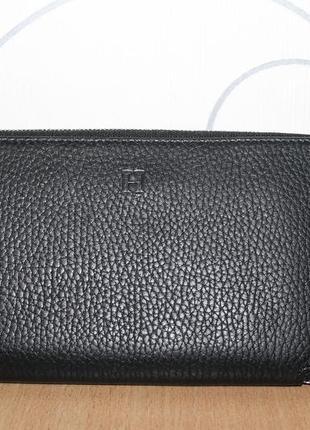 Кожаный кошелек клатч hermès azap classic wallet