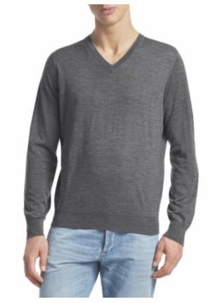 Пуловер шерстяной стильный модный дорогой бренд италии loriblu размер 50
