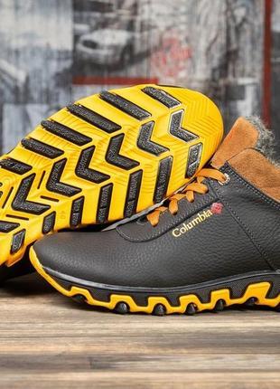 Ботинки спортивные кожаные зимние columbia track