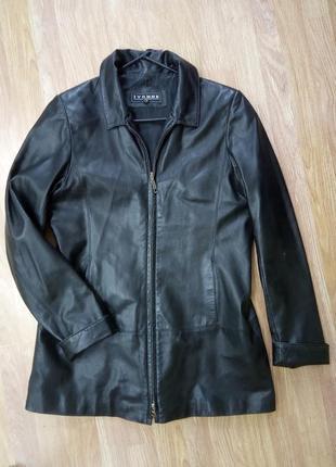 Стильная, кожанная, демисезонная, качественная, лёгкая, удлиненная куртка