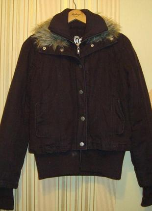 Теплая коттоновая курточка бомбер