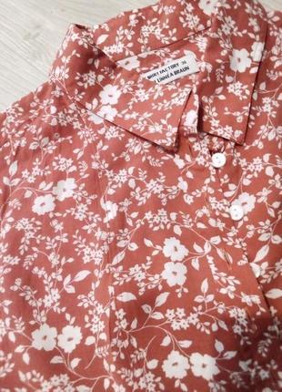Брендовая рубашка цветы the sting