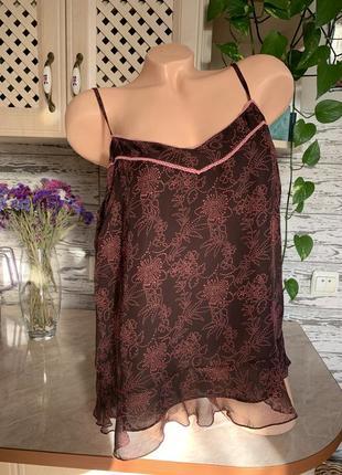 Базовая блуза топ майка шифоновая