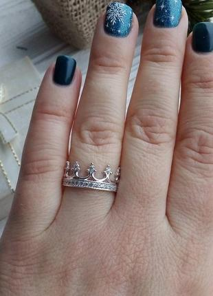 Кольцо корона. серебряное кольцо корона