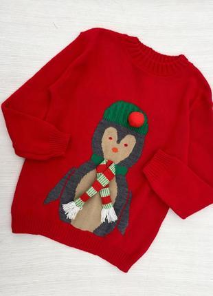Новогодний тёплый свитер