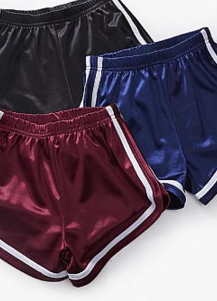 Женские короткие синие шорты с полосами для танцев и спорта