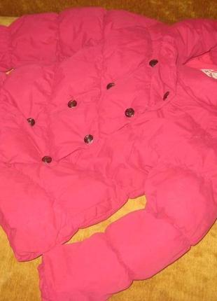 Детская куртка пуховик для девочки dpam на 8 лет,рост 126 см.