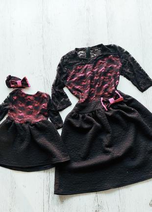 Платье мама + дочка