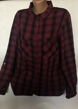 Стильная рубашка в клетку с люрексом