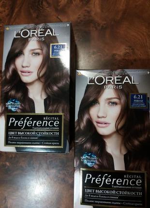 Краска для волос l'oreal paris риволи перламутровый свето-каштановый 6.21