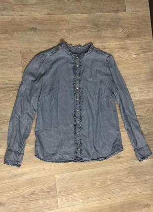 Классная джинсовая рубашка