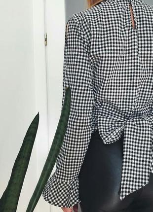 Блуза в клітинку zara