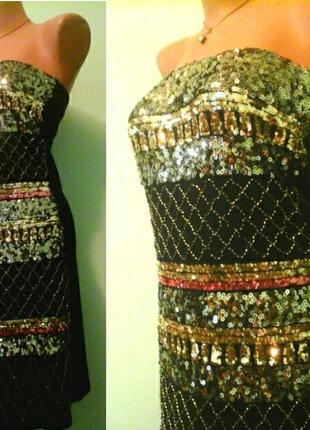 Нарядное платье-чулок, вискоза, париж