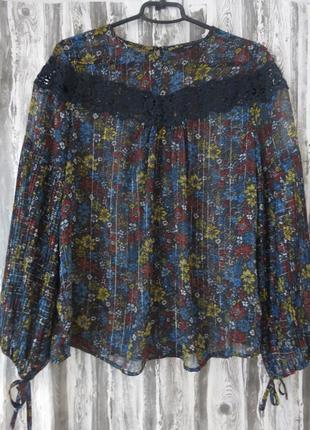 Блуза с длинным рукавом 12 размер