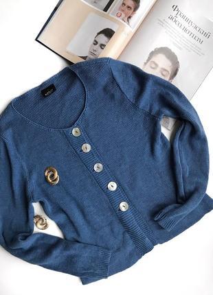 Льняной голубой кардиган k&us stockholm в стиле cos