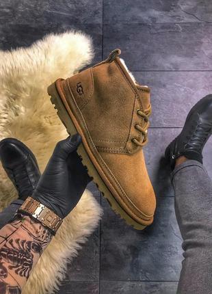 ❄️ugg classic short brown❄️зимние мужские коричневые угги/уги/ботинки с мехом, зимові угі