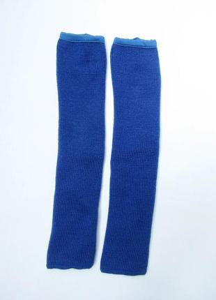 Детские танцевальные гетры для девочек 35 см синий