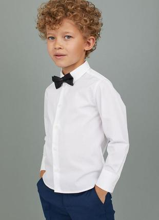 Рубашка с галcтуком мальчику 7/8 лет h&m