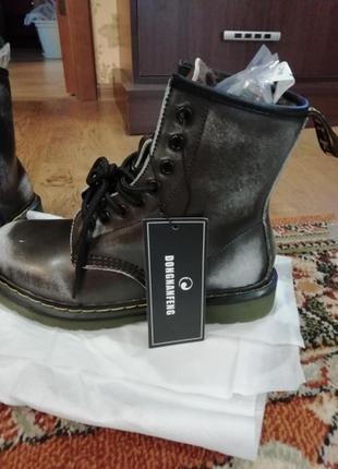 Зимние ботинки ,берцы ,натуральная кожа