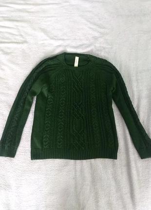 Дуже красивий в'язаний светр pull#bear