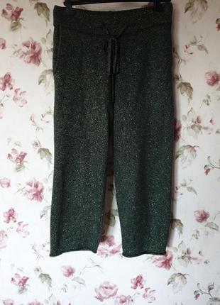 Кюлоты штаны с люрексом zara